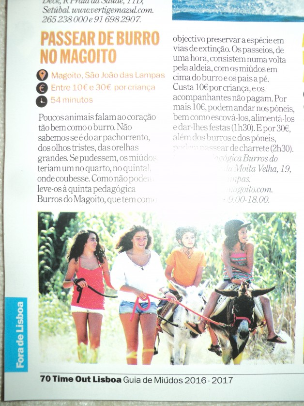 Time Out (Passear de burro no Magoito – Maio 2016)
